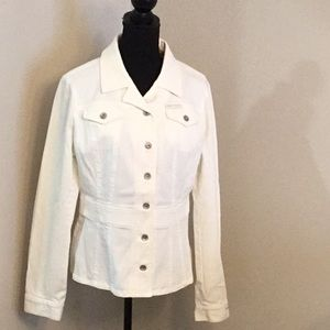 DKNY Jeans - White Tailored Jean Jacket NWOT
